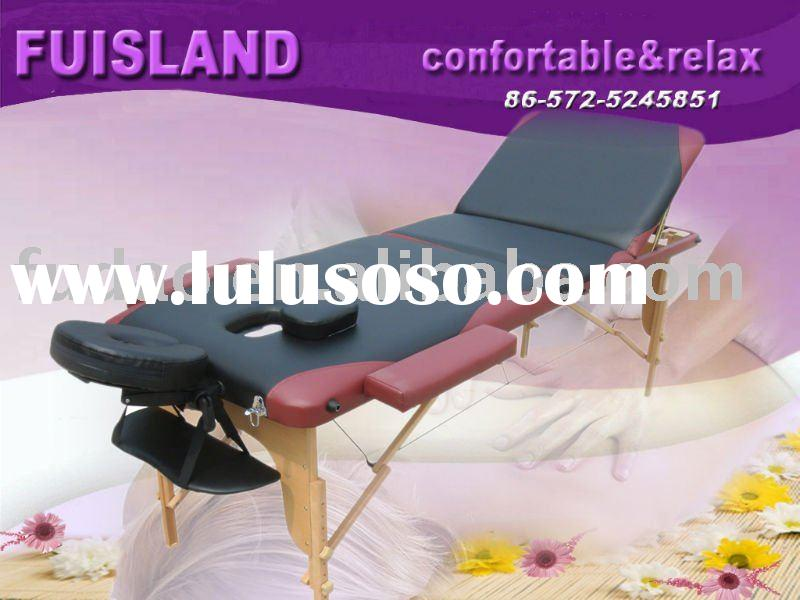 Portable and folding massage table wood in top sales