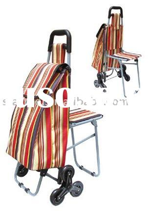 Shopping trolley bag with chair