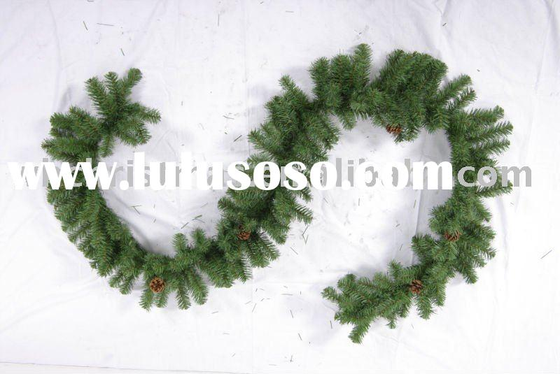 artificial pvc Decorative Christmas wreath garland