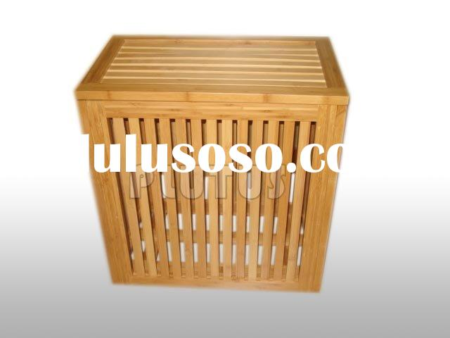 bamboo laundry basket,bamboo storage basket,hanging storage basket,wheeled laundry basket
