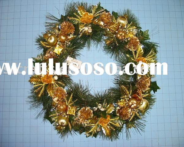 christmas door decorative wreath /wreath decoration /christmas wall hanging wreath