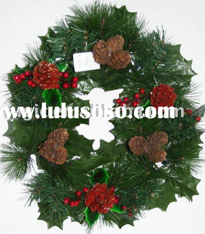 christmas wreaths in home & garden, decorating Wreath ring, christmas wreath with pine cone