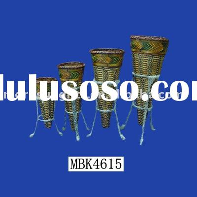 decorative rattan vases