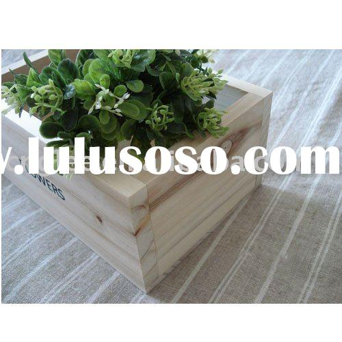 flower planter box wood