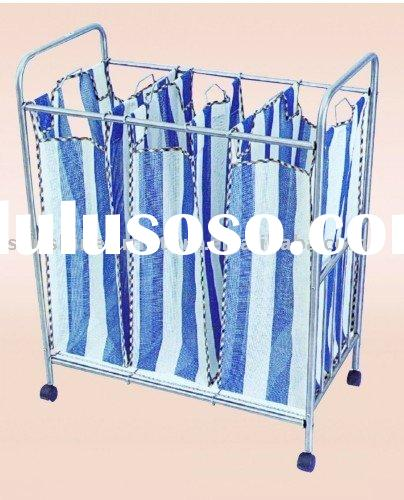 foldable Polyester Laundry bags 3 with metal rack