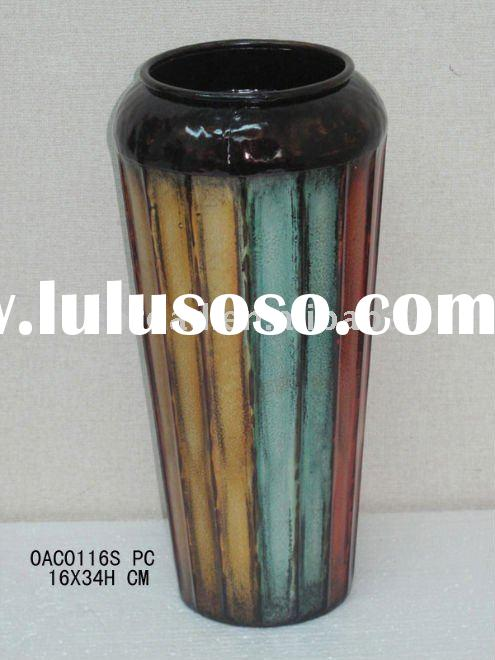 metal decorative flower vase