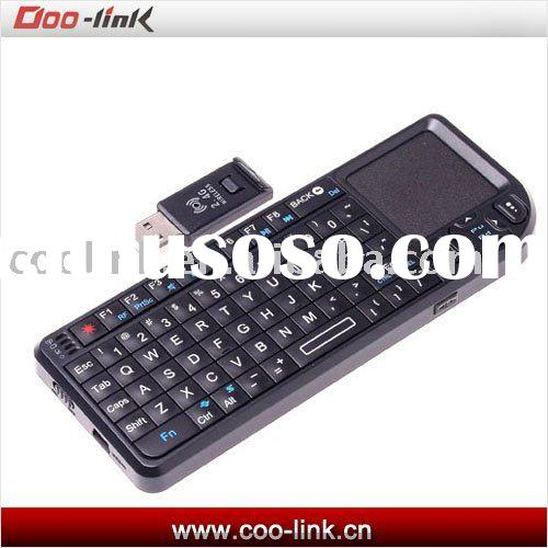 2.4G Wireless Keyboard with Bluetooth Touchpad Mouse