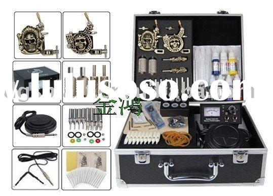 CE Approved Brand new professional 10-Coil-Wrap Empaistic Guns Tattoo Kit