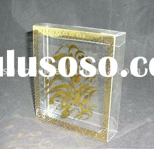 Clear PVC Box with Gold Foiling