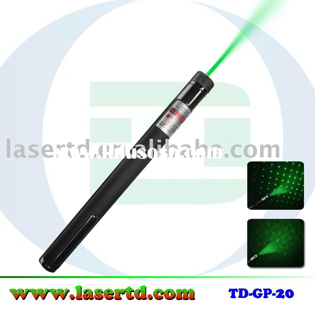 High power green laser pointer 2 in 1 with star cap creating stars for party