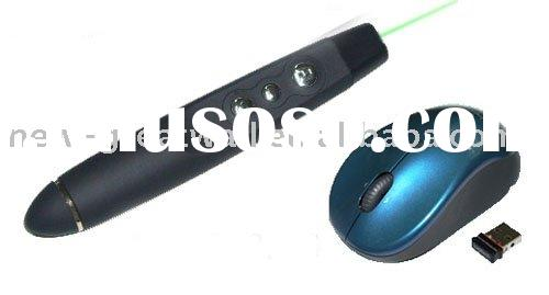 Mouse wireless laser pointer