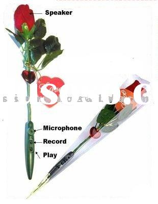 New rose digital voice recorder love cool gadget gift