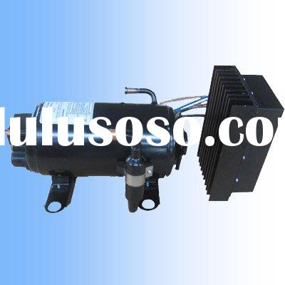 R134a gas Horizontal rotary DC 12/24 compressor for solar power air conditioning cooling units