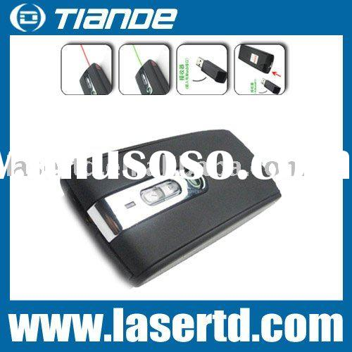 Remote control laser mouse pointer