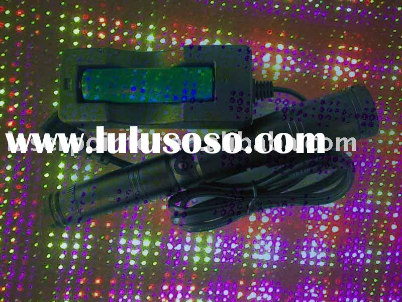Violet Blue,Green,Red laser pointer with Star effect (Hot selling)