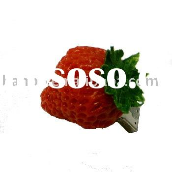 food USB flash disk,strawberry flash drive, funny usb