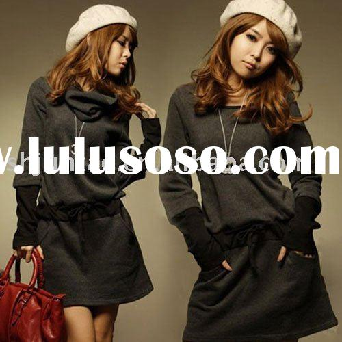 2011 Brand New fashion style long sleeve casual dress