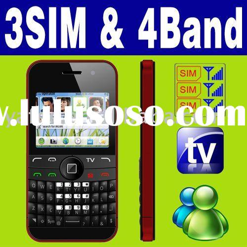 3 SIM Triple 3 Standby TV Mobile phone Unlock MSN Yahoo