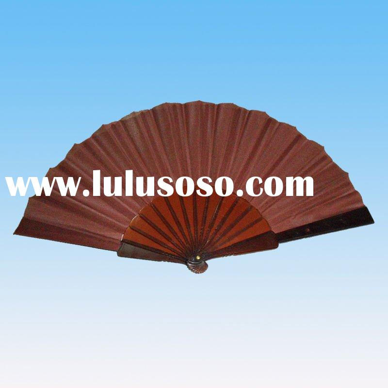 Brown Plastic Hand Fan for promotion gift (ql-0335)