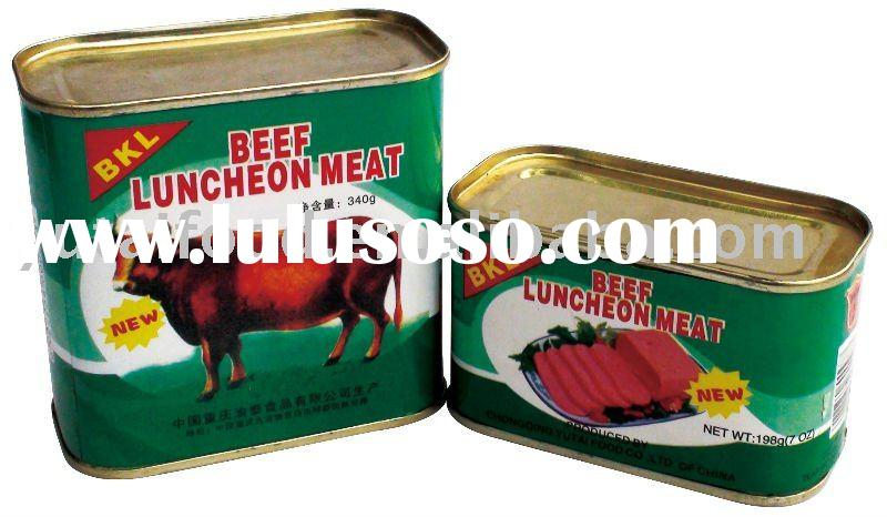 Canned Halal Beef luncheon Meat