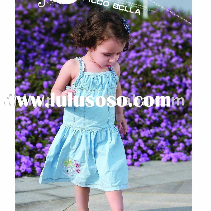 Cute 100% cotton baby girl dress