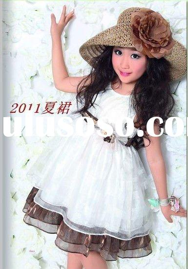Flower Girl silk dress 2011 new style 201#