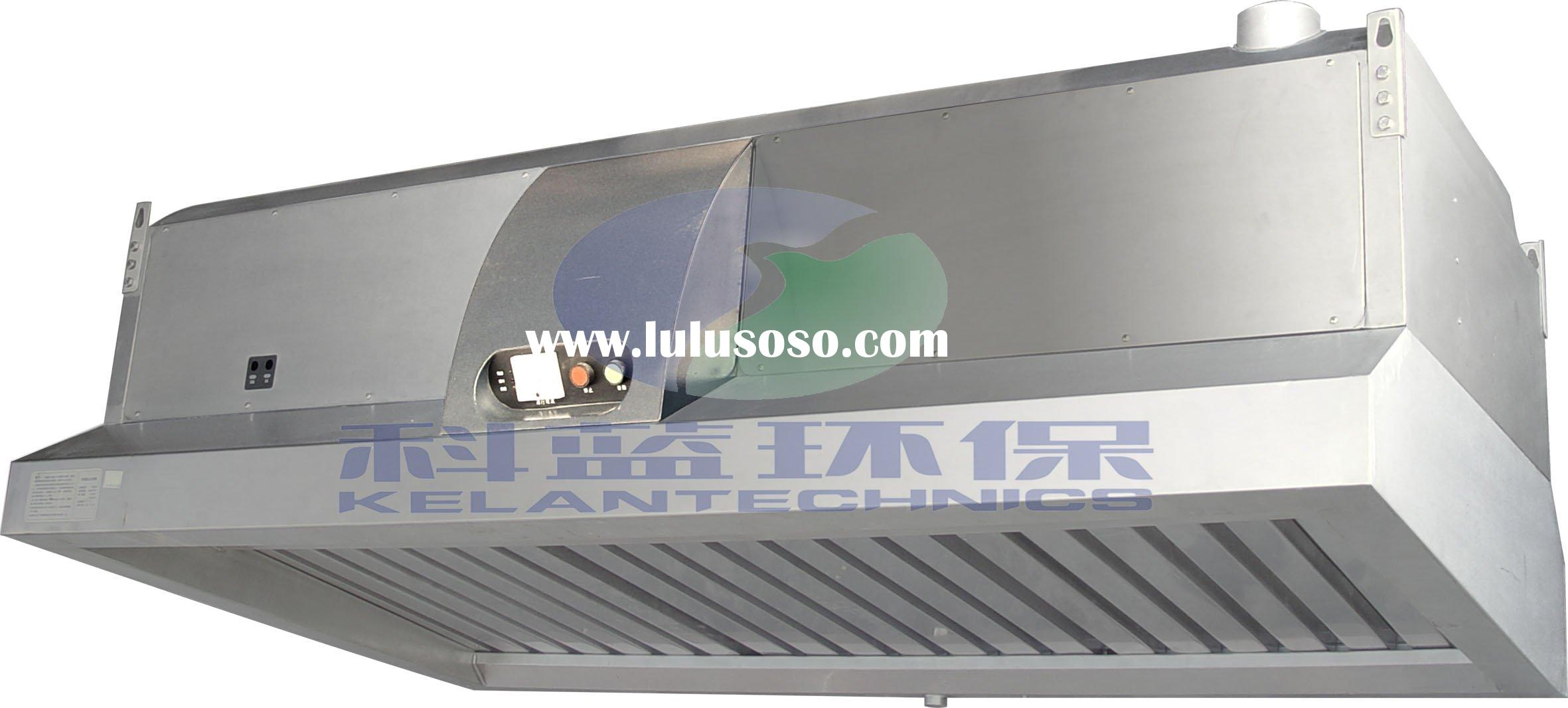Kitchen Range Exhaust Vent Hood with ESP Air Cleaning Filters