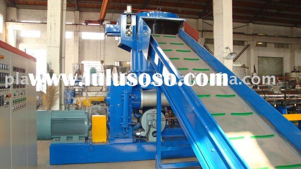 PP PE recycling granulating production making line plastic machinery