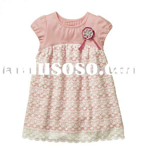 Summer fashion baby girls knitted dresses,baby garment