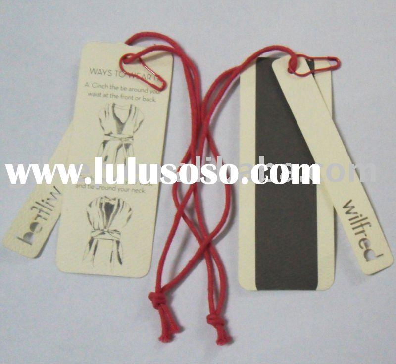 fashion garment hang paper tag