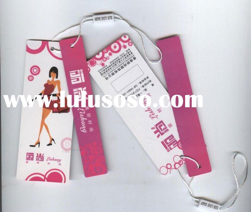 fashion hang tag for Ladies garment