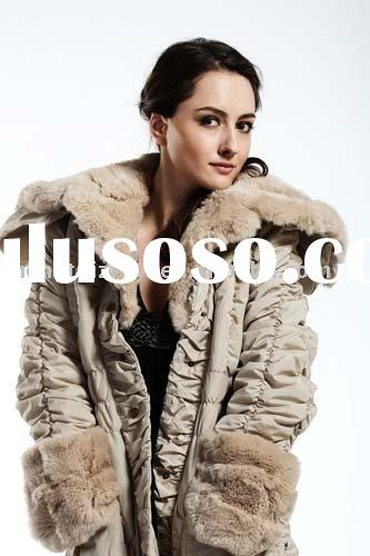 fur coats , rabbit fur liner rex rabbit fur collar and cuffs
