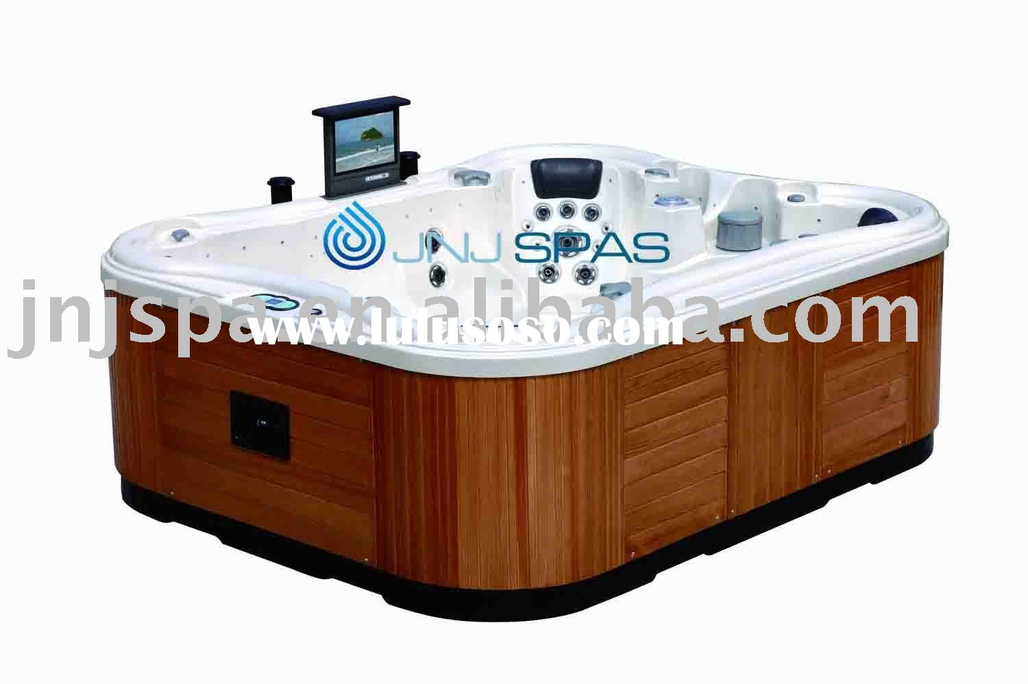 portable whirlpool/spa bathtub with Pop-up LCD TV