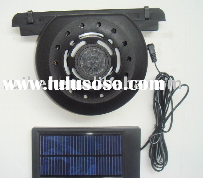 solar car fan, auto exhaust fan, solar car cooler