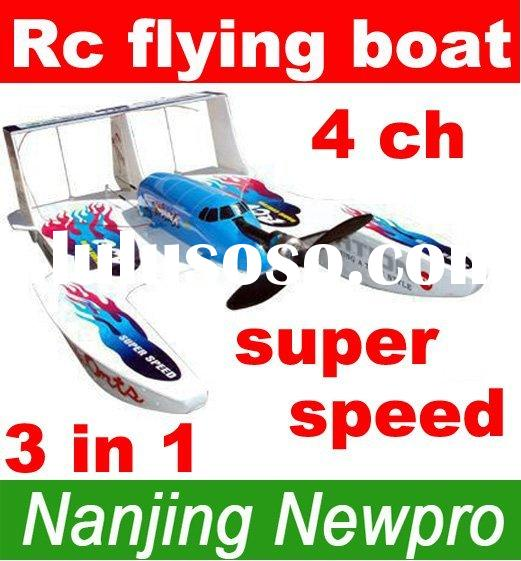 09 new product 4 Ch 3in1 Hydro-Glider foam RC toys radio remote control airplane flying Boat r/c stu