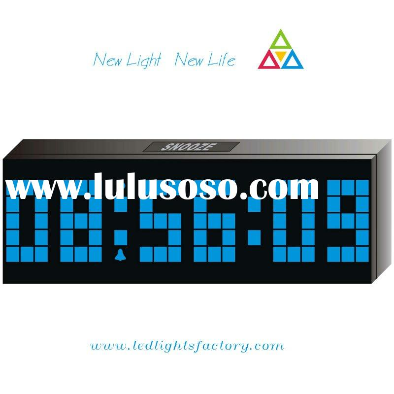 2011 new hot sale fashion blue led alarm clock