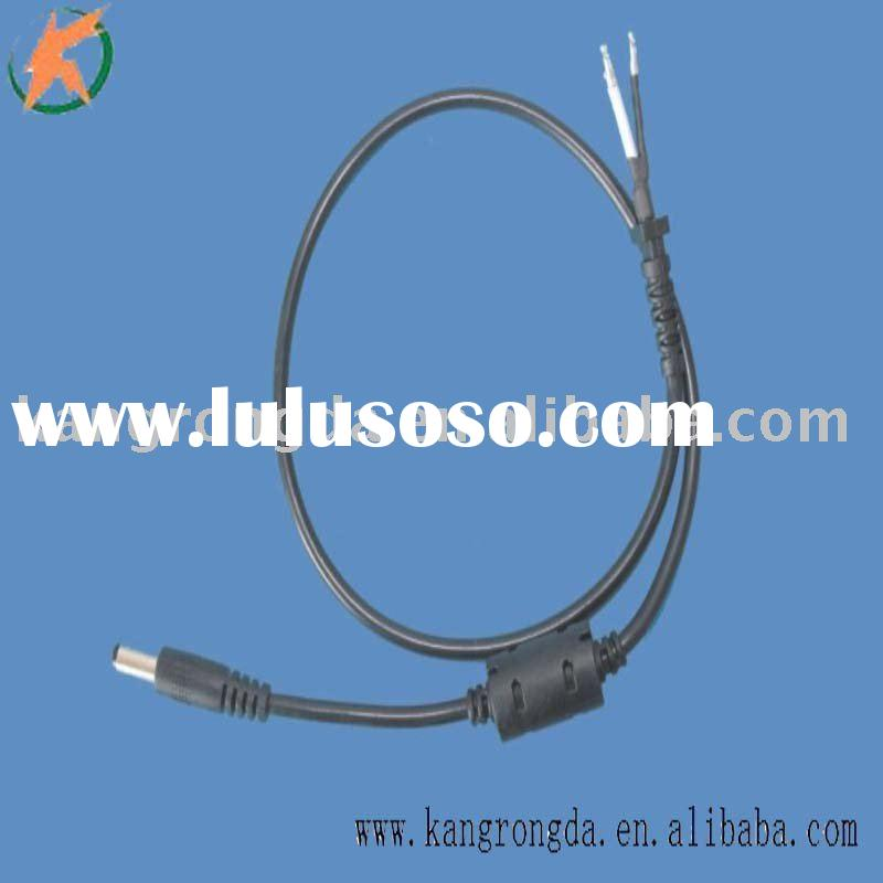 5.5*2.1*21mm male dc power cable assembly with magnetic loop straight angle