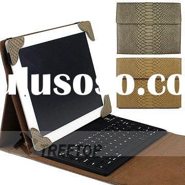 Fashion snake skin design PU leahter case for iPad 2