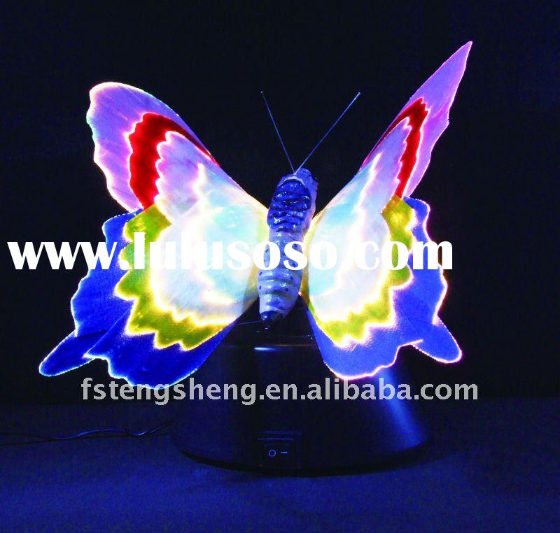 Fiber optic light with butterfly shape