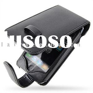 Leather Case for Apple iPhone 3GS (32GB/16GB) - Flip Type (Black)