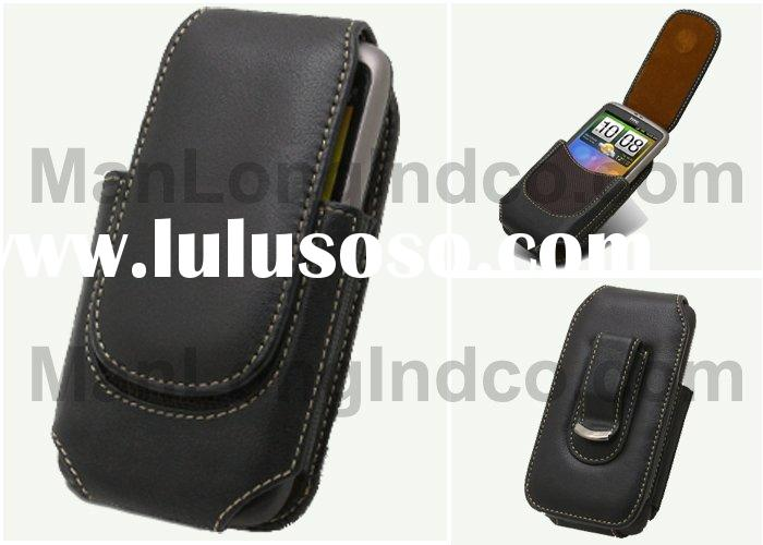 Leather Case for HTC Desire/HTC Bravo - Universal Horizontal Pouch Type (Black) O2HTDELCUI8BK