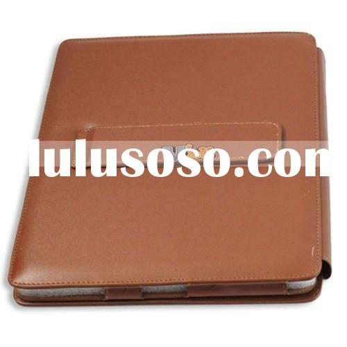 New Brown Leather Case Pouch Kick Stand For Apple iPad