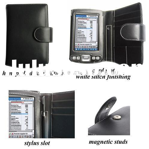 PDA Leather Case for Palm Tungsten T5/TX - Book Type (Black)