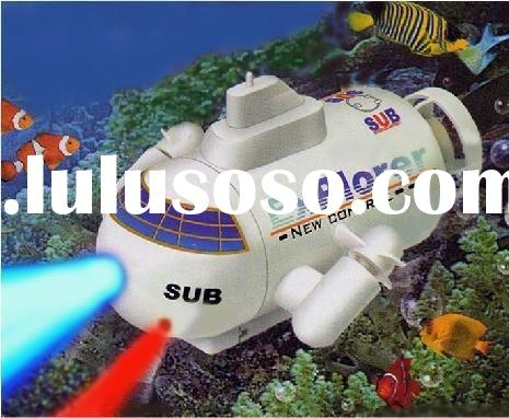 Radio remote control  mini sub boat rc submarine toy water tanks with flashing lightsremote submarin