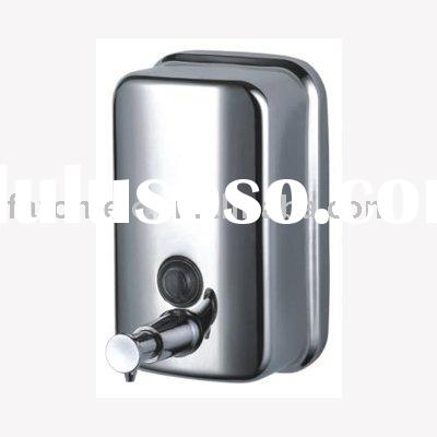 Stainless steel manual soap dispenser
