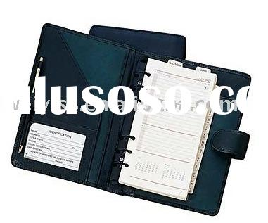 pu file holders/pvc diary notebook/leather binder