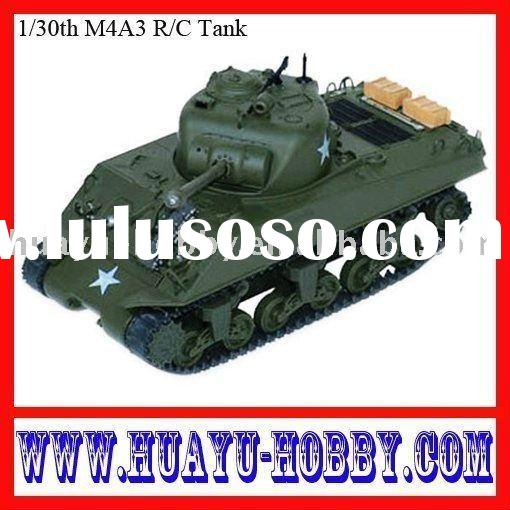 radio control toy/rc tank/rc model/1/30th M4A3 R/C Tank High real-like caterpillar transmission syst