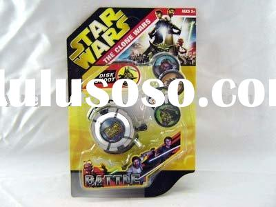 star wars plastic disc shoot set toys