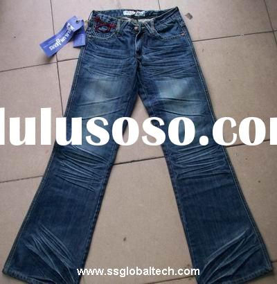 2011 NEW STYLE BLUE MONKEY AND VINTAGE WASH COTTON LADIES BOOTCUT DENIM JEANS PANTS WBJ5828B