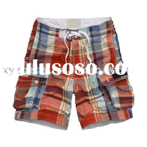 2011 New Men's Board Shorts orange plaid